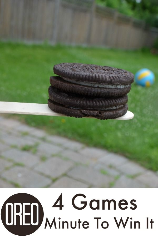 4 minute to win it games to play with OREOs - Fun BBQ idea!
