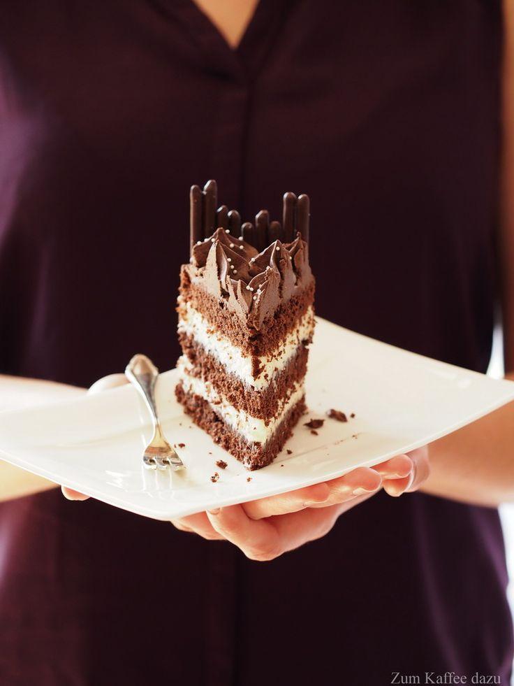 Kokos-Torte mit Zartbitterschokolade