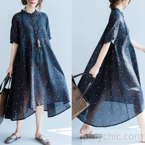 the dotted gribs navy summer dresses plus size cotton dresses caual linen dress flowy sundresses