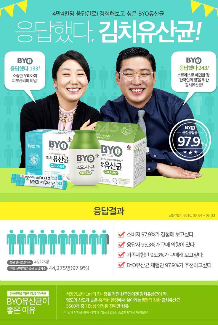 97.9%응답했다, BYO유산균 | 기획전 | CJ제일제당 직영몰, CJ온마트