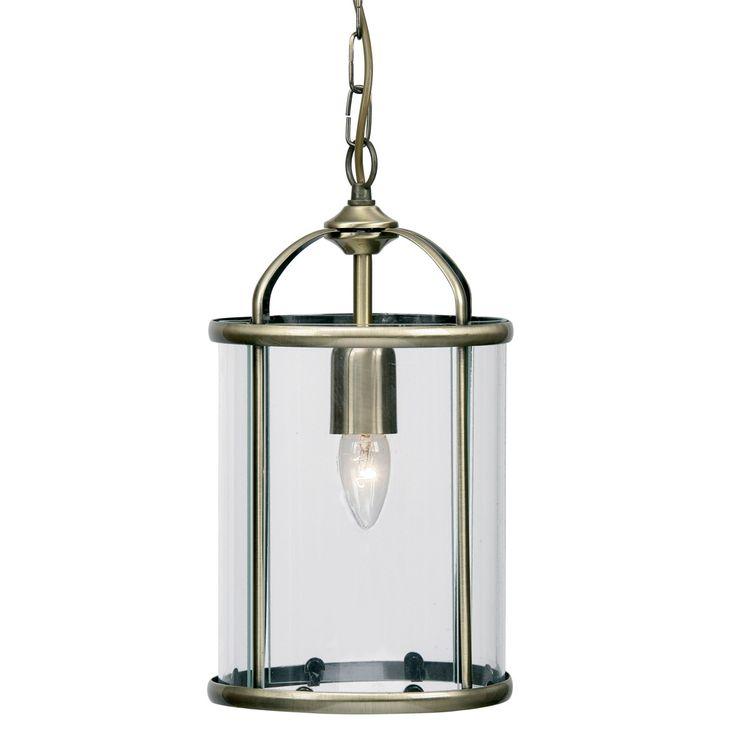 Oaks 351/1 AB Fern 1 Light Antique Brass Lantern