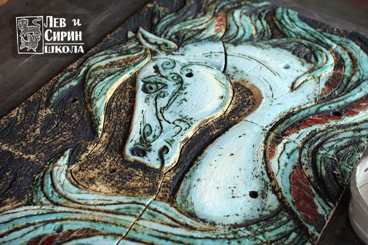 Лев и сирин. Студия керамики в Звенигороде