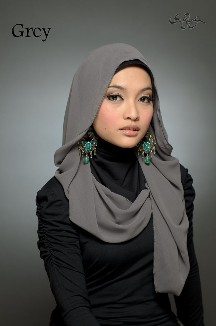 Been trying to figure out tjis style forever..modern hijab  grey and black hues