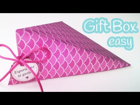 DIY crafts: GIFT BOX easy (triangular) - Innova Crafts - YouTube