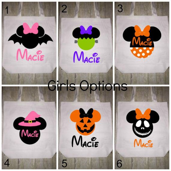 disney halloween trick or treat bag tote girls - Pinterest Halloween Treat Bags