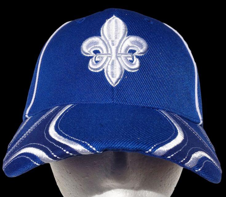 Quebec Canada Fleur De Lys Hat Cap Baseball Blue St. Jean #baseballcap #baseballhat #quebec #quebeccap #quebechat #fleurdelis #fleurdelys #jemesouviens