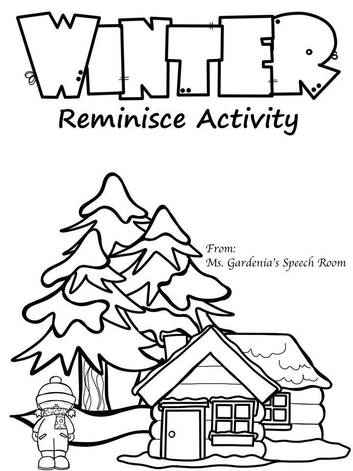 Ms Gardenias Speech Room Winter Reminisce Activity