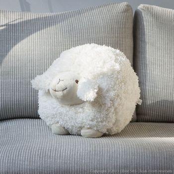 Coussin mouton peluche