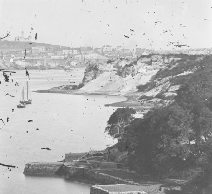 View of the Observatory, The Rocks, from the North Shore. [Kirribilli]