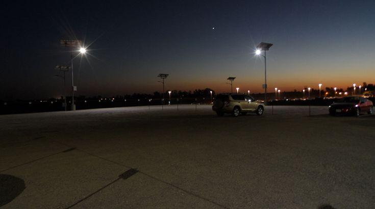 Parking lot lighting for University California Merced #parking