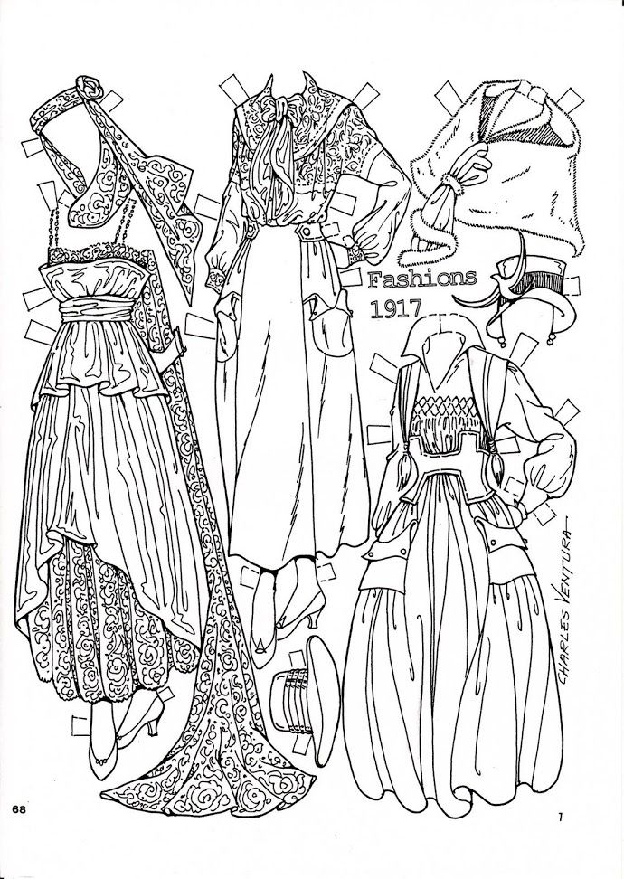Pattern Book Fashions 1917 Paper Dolls by Charles Ventura