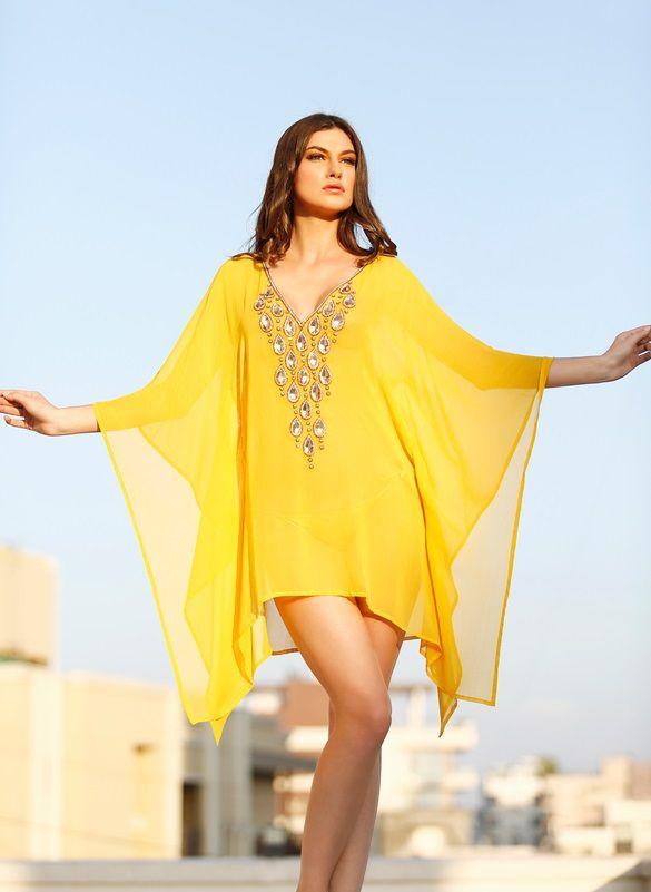 short caftan dress - Dress Yp