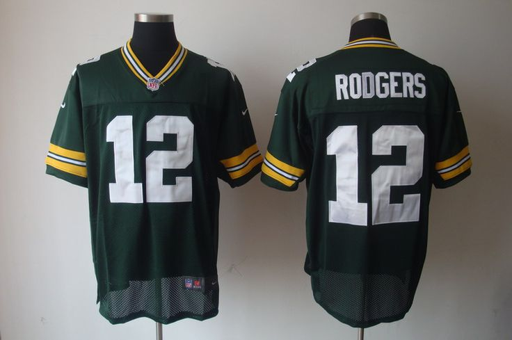 $20.00 Nike NFL Jerseys Green Bay Packers Aaron Rodgers #12 Green