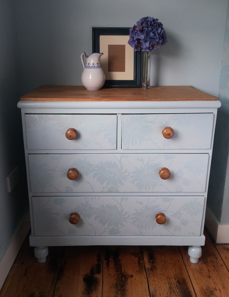 SOLD A beautiful set of drawers upcycled to blend perfectly into the room, retaining the best of the original features.