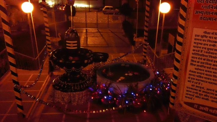 an example of shiva lingum, prepared for shivratri celebration, mount abu, india