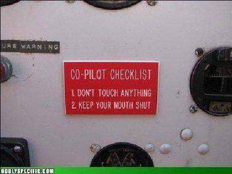 Co-pilot Check-list...
