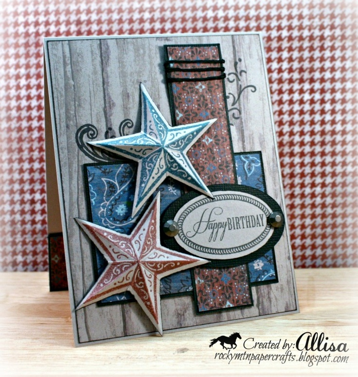Gorgeous card made with  CTMH Dakota paper pack from Alissa at Rocky Mountain Paper Crafts