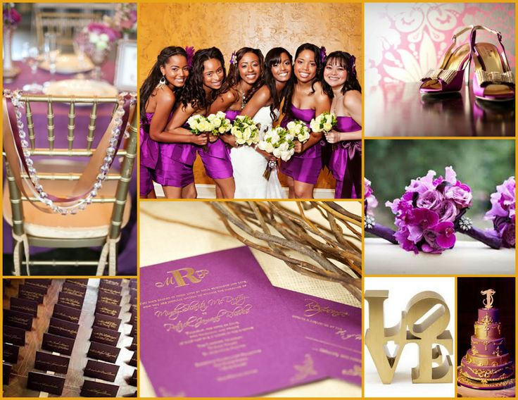 Enchanted Expectations: Purple and Gold Wedding Inspiration Board