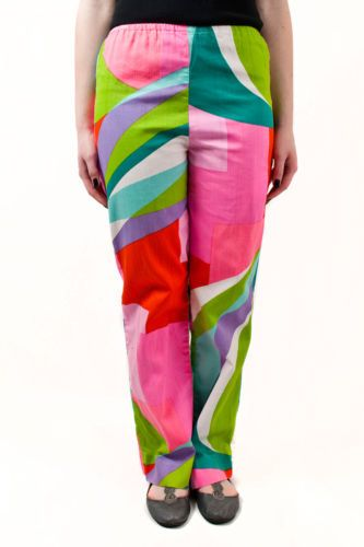 vintage WOMENS MULTI-COLOURED ABSTRACT PATTERNED TROUSERS