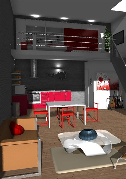 Loft with sunlight created and rendered in HomeByMe - loft decorating &  design ideas http: