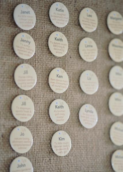 Wedding name Badges