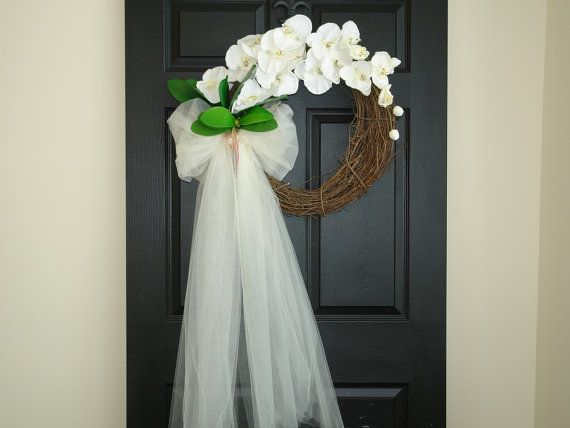 Spring summer wreaths wedding door decorations by for Wedding door decorating ideas