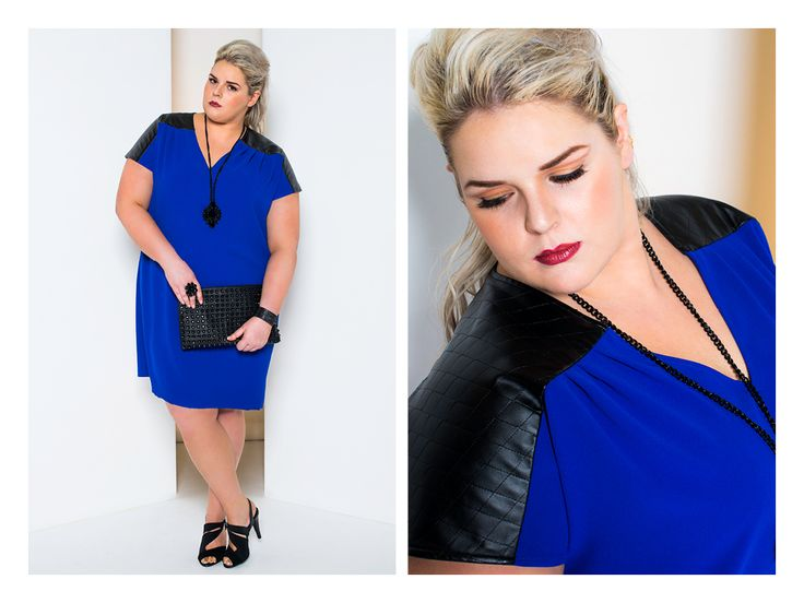 Love me or leave me shift in Cobalt - also available in Fire Red $189.00  www.harlowstore.com  #madeinaustralia #harlowlife #harlowlove #plussizefashion #psfashion