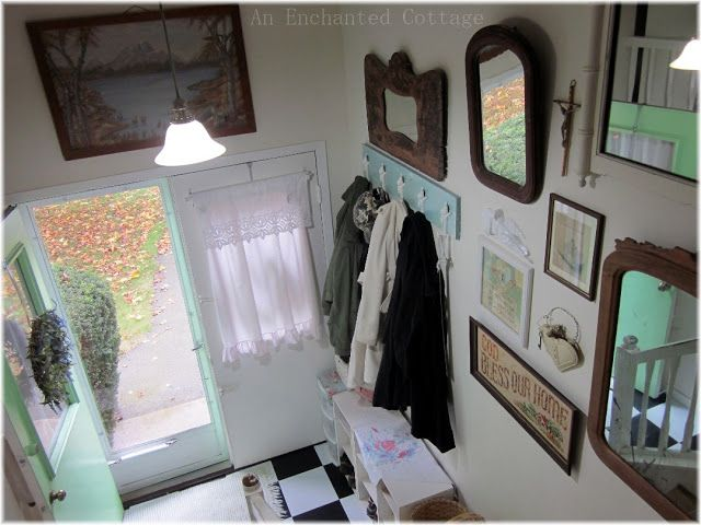 An Enchanted Cottage: Eclectic Mirror Gallery Wall