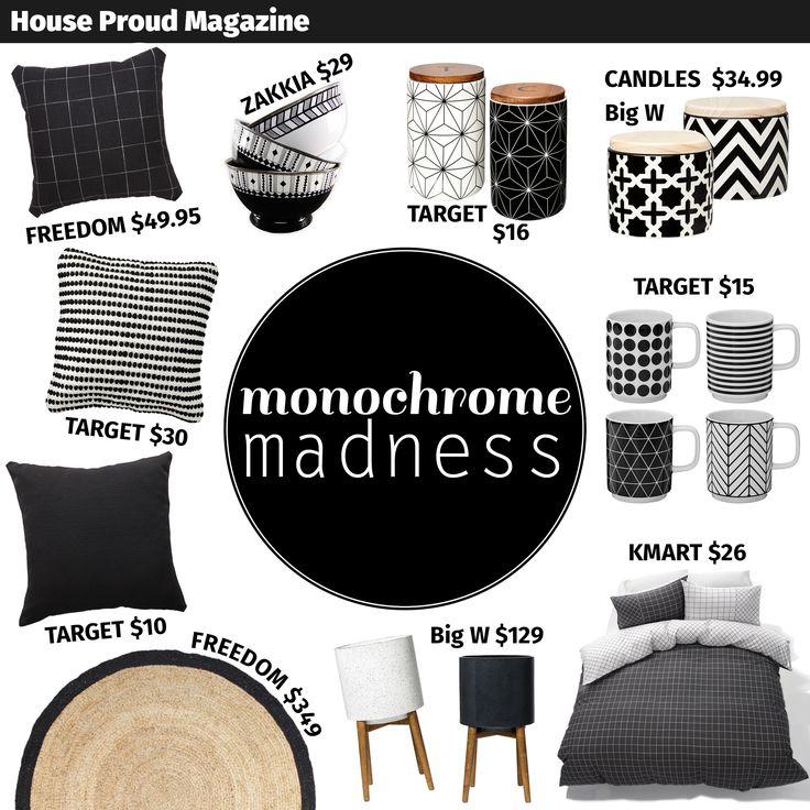 Our original Monochrome Madness home decor mood board... we love monochrome at House Proud Magazine!
