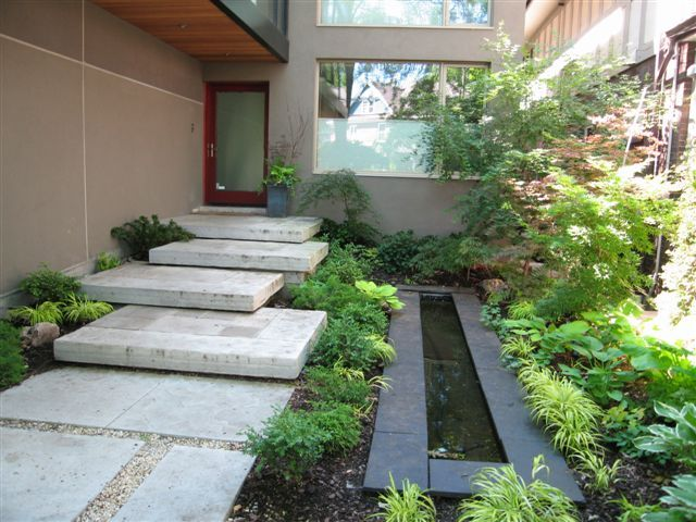 Courtyard with water feature landscaping pinterest for Courtyard landscaping pinterest