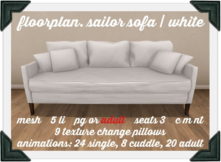 floorplan. sailor's sofa / white | Flickr - Photo Sharing!