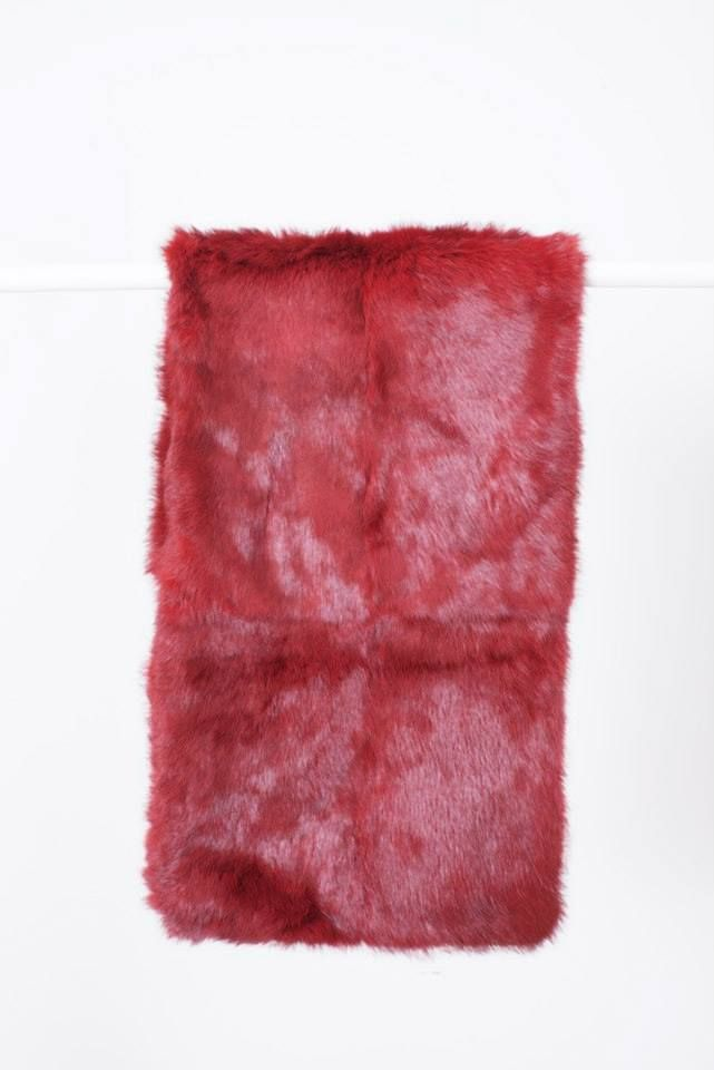BORDEAUX RABBIT FUR STOLE // © MORECCO 2014