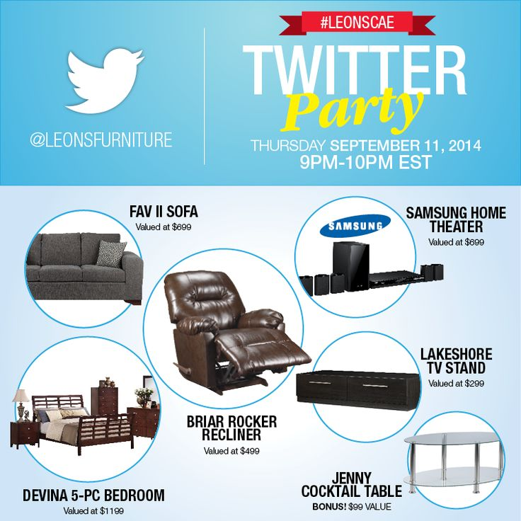 Twitter Party Over $3000 in prizing Take a peek