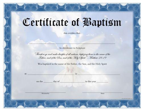 free printable baptism certificate