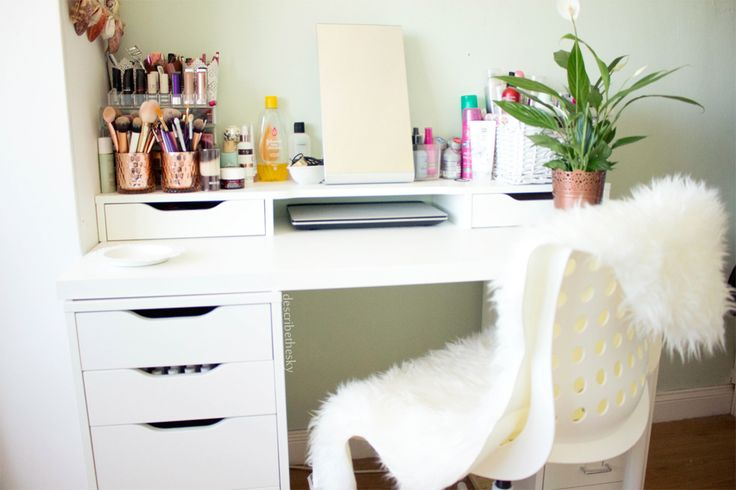 makeup vanity storage desk  alex drawer