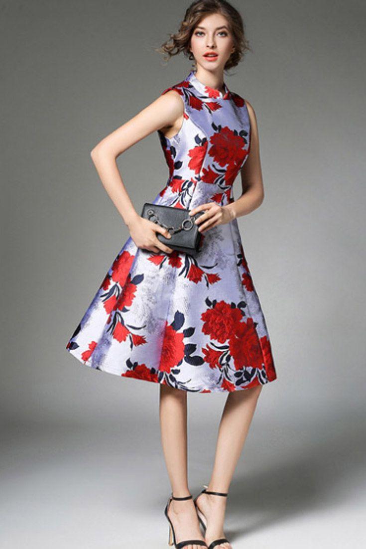 e26f426d4740 Vestido Curto Rodado Estampado Festa em 2019 | Dresses 2 | Vestido ...