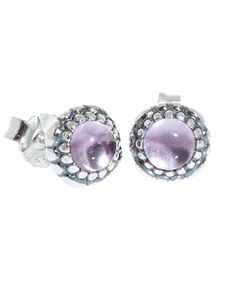 Pandora - Birthstone Earrings: Pandora Silver February Birthstone Studs!