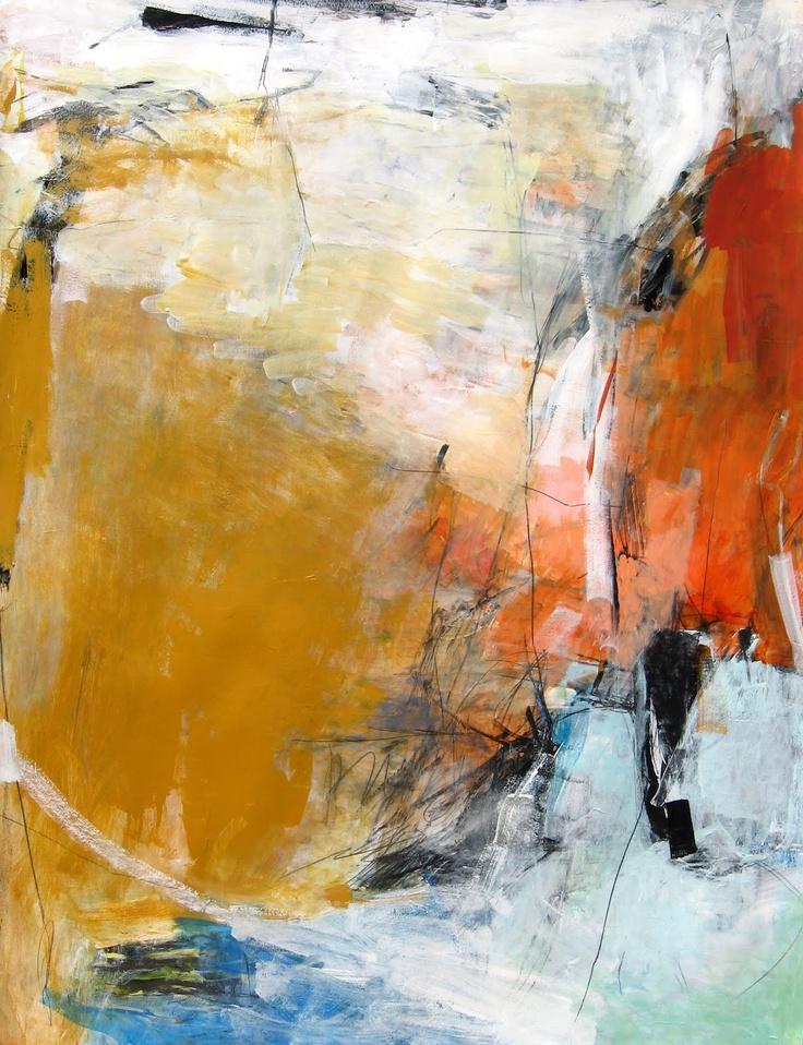 Foust Studio / my abstracted view is of a man standing near an edge looking out into the distance