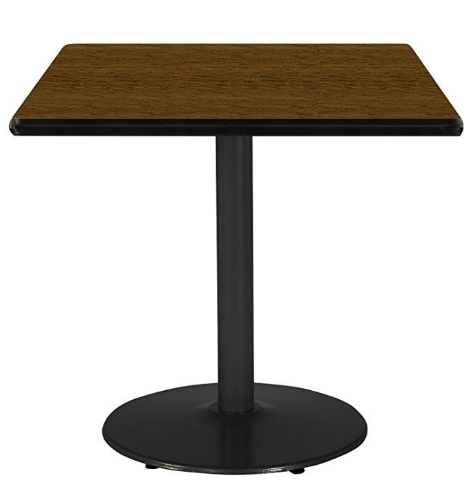 """amazon 42"""" square pedestal table with walnut top"""
