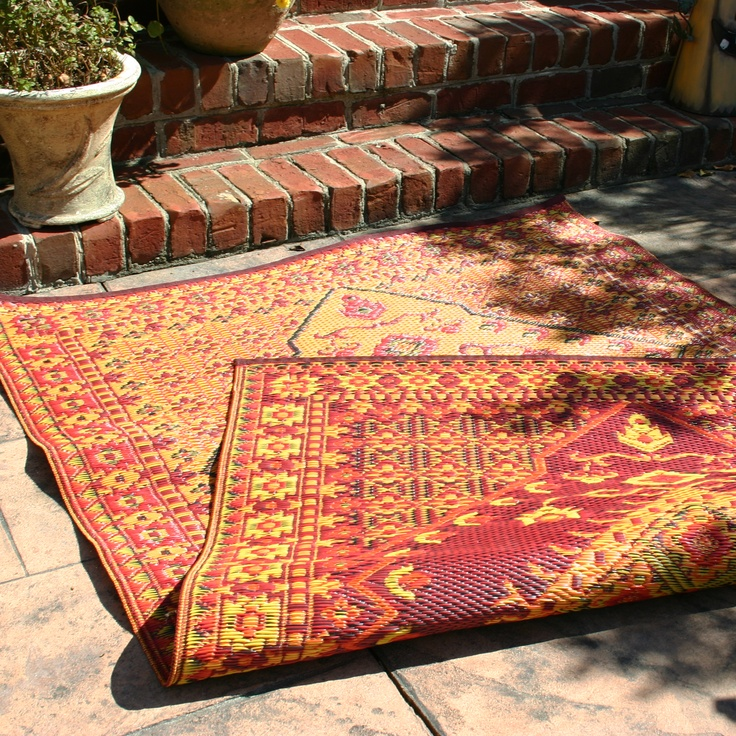 Mad Mats Outdoor Rug. Made From Recycled Plastic. Reversible.  Maintenance Free.