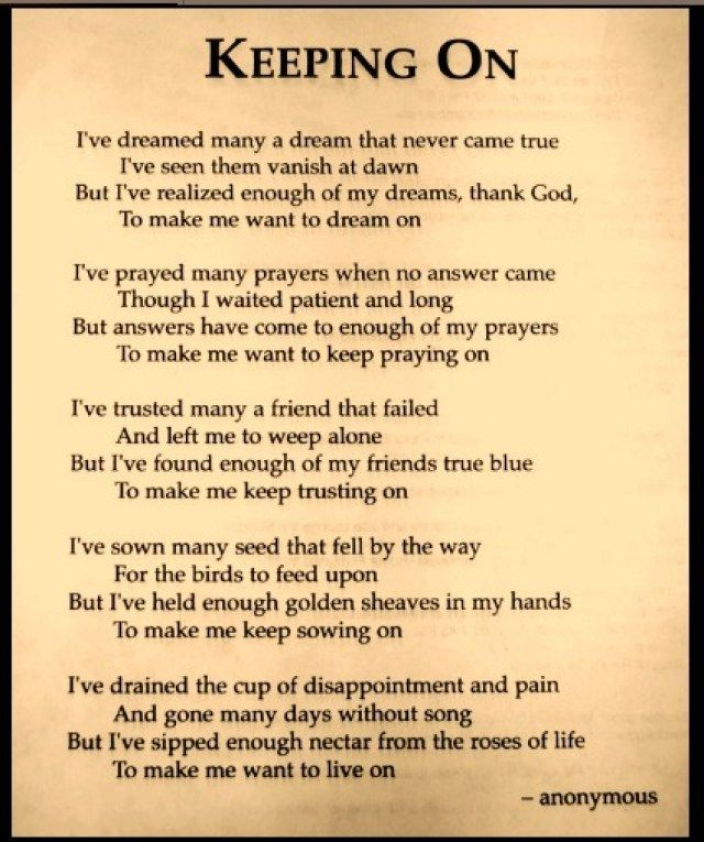 Image result for Poems for strength | Encouraging poems ...