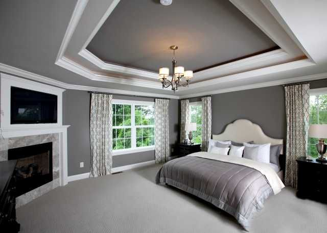 Gorgeous!  Great trim on top and bottom.  I think I'd prefer the ceiling above the bed to be all white.  Corner fireplace.  TV trim is a nice touch.  Lots of windows! http://www.manorhomes.biz/photo-gallery/category/74-2011-parade-of-homes