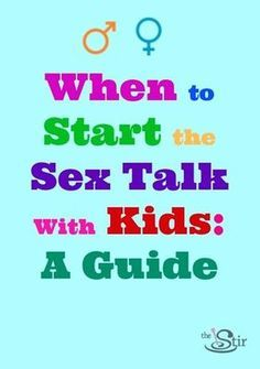 How to have the sex talk with kids - in stages