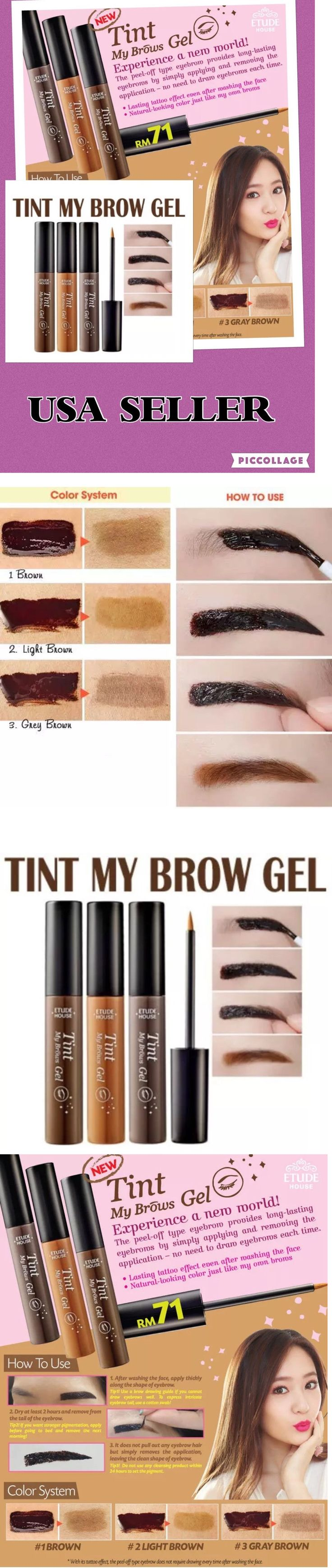 Eyebrow Liner and Definition: Etude House Tint My Brows Gel Peel Off Korea Cosmetics Usa Seller Wholesale -> BUY IT NOW ONLY: $62 on eBay!