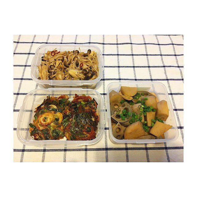 5月2週目🗓 ・ ・ *きのこのピリ辛ナムル *ニラチヂミ *里芋の煮っころがし ・ ・ #作り置き #ごはん #お家ごはん #常備菜 #肉 #野菜 #主食 #副菜 #主菜 #お弁当 #料理 #supper #dinner #meal #lunch #vegetables #meat #instacook #instafood #instagood #japanese #food #love #eating #yammy #hungry #allday #l4l #l4f
