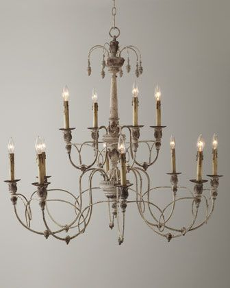 Salento 12 light white two tier chandelier