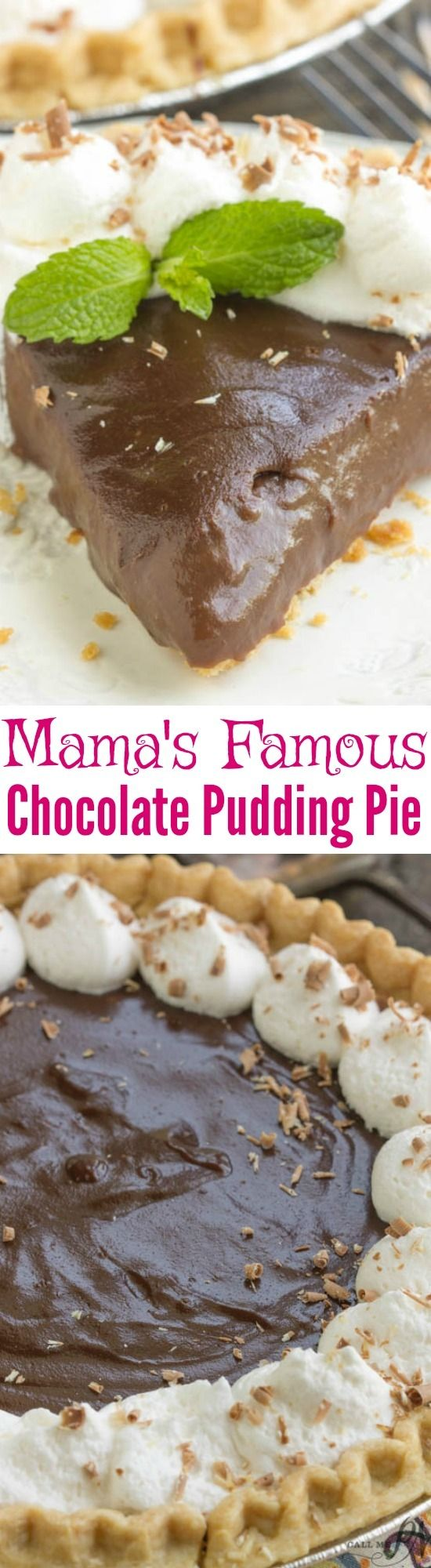 Mama's Famous From Scratch Chocolate Pudding Pie has a velvety smooth texture of decadent chocolate. A classic recipe that has stood the test of time. Is it your recipe box? Click for #recipe> http://www.callmepmc.com/mamas-famous-from-scratch-chocolate-pudding-pie/?utm_campaign=coschedule&utm_source=pinterest&utm_medium=Paula%20%7C%20CallMePMc.com&utm_content=Mama%27s%20Famous%20From%20Scratch%20Chocolate%20Pudding%20Pie  For more recipes like this, follow me on Facebook at…