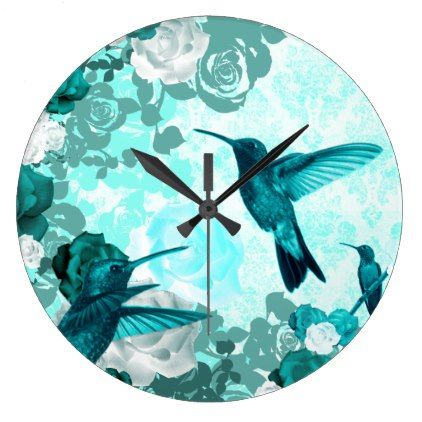 Nature Damasked Collection Large Clock - dorm decor gift ideas presents diy personalize