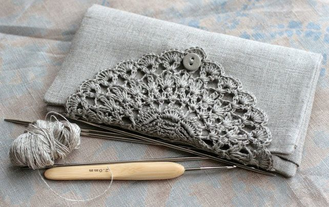 Linen Crochet Hook Case - Holder - Organizer £25.00