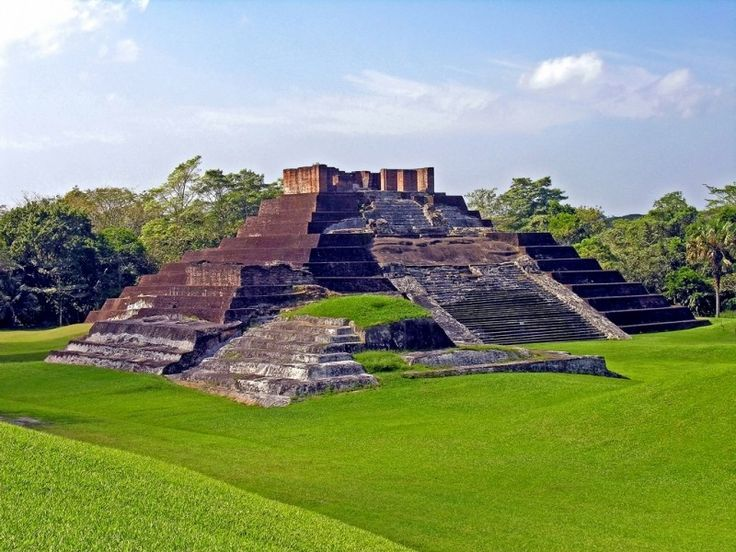 Mexico-3070 - Comalcalco - the only Mayan Brick Pyramid Cancun continues being the No. 1 main vacation spot with United��_